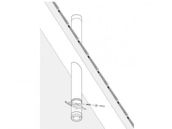 Buderus Dachdurchführung, Ø 80/125 mm, Edelstahl, ohne Mündungsabschluss, 7738112713