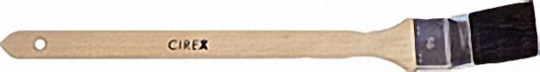 Pr. -Heizkörperpinsel 75mm Cirex schwarz, Buchenstiel, Weißblechzwinge