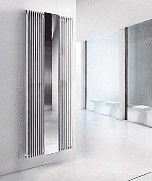 Wohnraumheizkörper inklusive Spiegel Florian Plus - weiss (RAL 9016) H x L = 2000 x 720mm