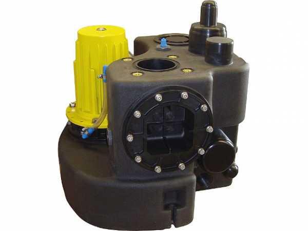 Abwasser-Hebeanlage Zehnder Kompaktboy Doppel 1,5D mit Frei- stromradpumpen(400V/2x1,1KW)