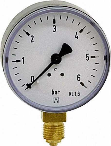 Manometer 0-1bar 63mm für G1/4