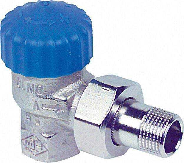 Thermostatventil Rotguß vernickelt R 3/4''Eckform Schwerkraft