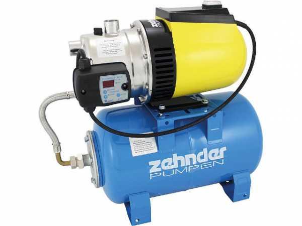 Hauswasserwerk Zehnder HWX E 3800 mit Druckschalter ZPC01B u.Edelstahlbehälter 20L