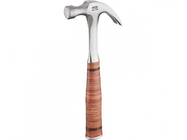 Klauenhammer PICARD 960g, Amerikanische Form, Ganzstahlstiel, mit Ledergriff