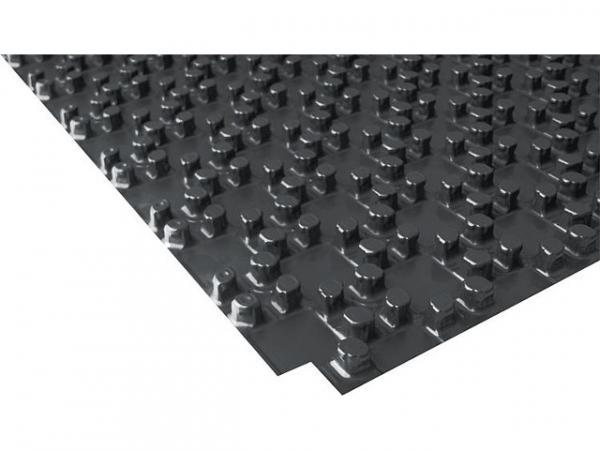 Noppen-Systemplatte ohne Dämmung aus PS-Folie mit trittfest ausgeformten Rohrhaltenoppen VPE 30 m²
