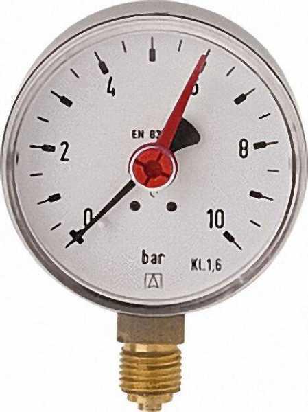 Manometer Solar RF 63 D201 Solar 63mm G 1/4 B radial 0/10 bar