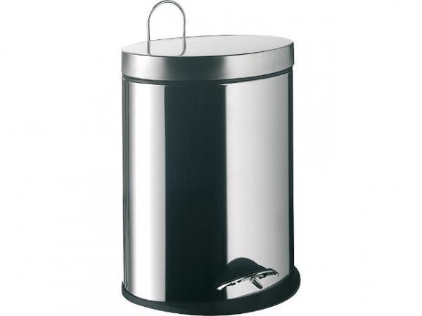 Abfallbehälter emco system 2 Edelstahl, mit Deckel oval, stehend, 5L