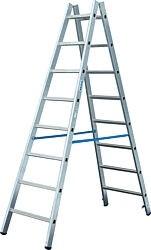Sprossen-Doppel-Leiter Arbeitshöhe 3,55 Leiterhöhe 1,95 2x7 Sprossen
