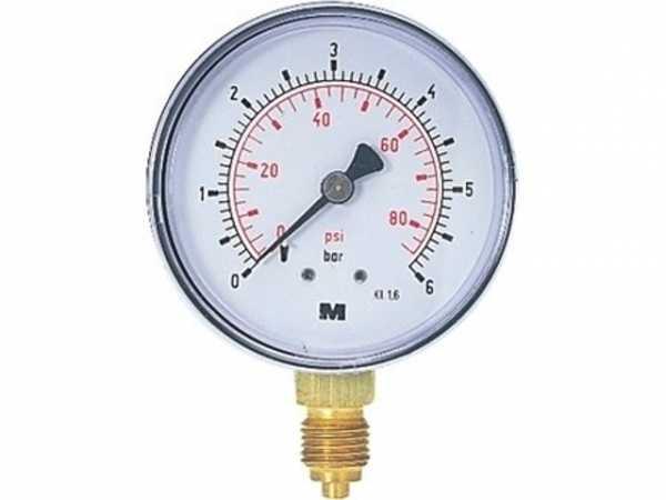 Manometer NG 63 radial 0 bis 16 bar