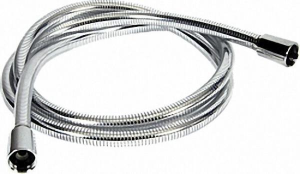Brauseschlauch Luxus-Chromline chrom-glasklar Länge 2,00m beids. Drehwirbel