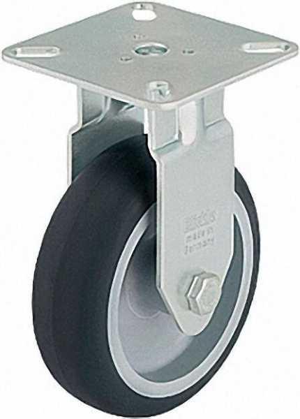 BLICKLE Bockrolle BPA-TPA 75G Tragfähigkeit 75 kg Rad D= 75mm, Plattengröße 60x60