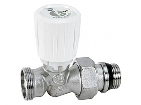 Giacomini R432C Thermostatventil Durchgangsform selbstdichtend mit umgekehrter Flussrichtung und Adapteranschluss