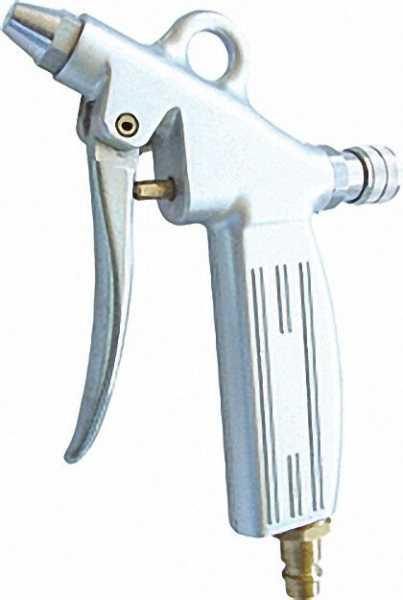 Ausblasepistole aus Alu stufenlos einstellbar mit Kurzdüse