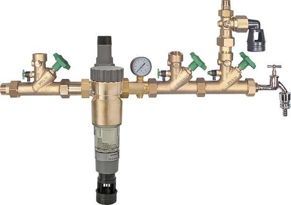 Hauswasserverteilsystem mit Rückspülfilter Colonia