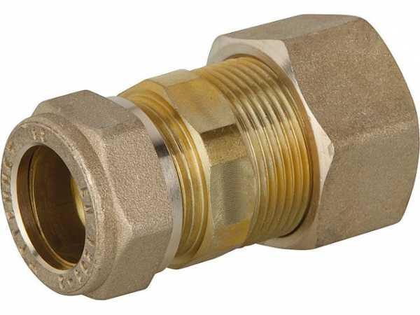 Verschraubung für Spiralrohr DN15x15mm KRV Messing mit Graphit Hochtemepraturdichtung