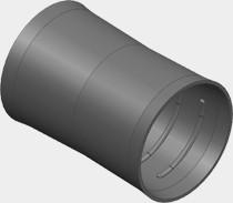 VIESSMANN ZK01875 Verbinder für Rundkanal mit Außendurchmesser 75 mm
