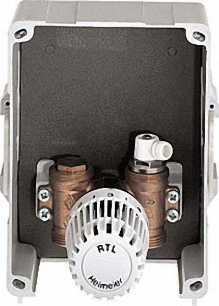 Multibox RTL Abdeckung und Thermostat-Kopf weiß