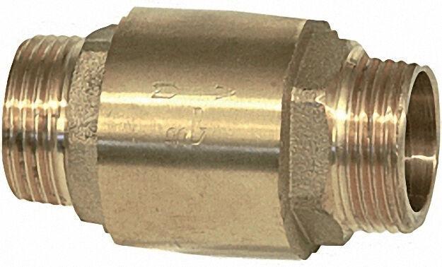Rückschlagventil aus Messing mit AG 1 1/4'' X AG 1 1/4'' Typ 8