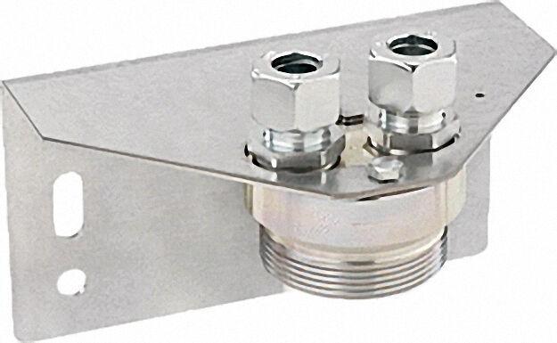 Halterung für 1-Stutzen Gaszähler G2, 5-G4-G6 2'' x RVS 18, 180° drehb