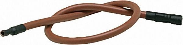 Zubehörteile für Zündtrafos Silicon-Zündkabel rot, fertig abgelängt, einerseits 6,3mm Stecker 450mm
