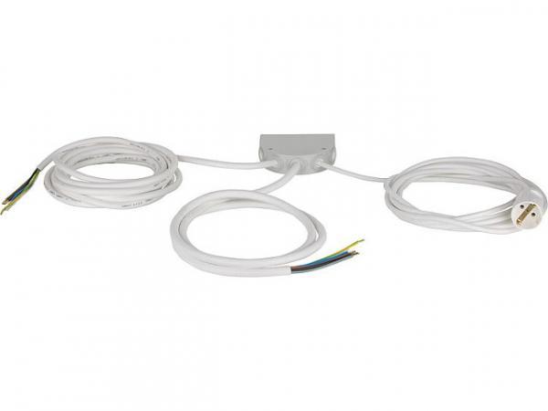 Küchenanschlussbox 2m Grau mit Anschraubösen, Anschlusswert bis 10kW