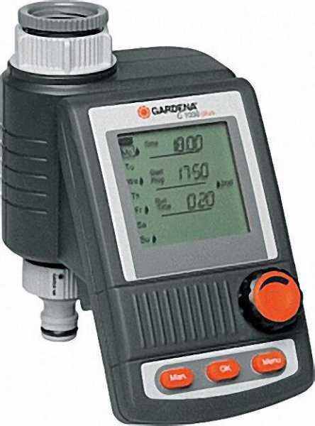 GARDENA Bewässerungscomputer C1030 plus für Wasserhähne mit 26,5mm (G3/4) und 33, 3mm (G1) Gewinde