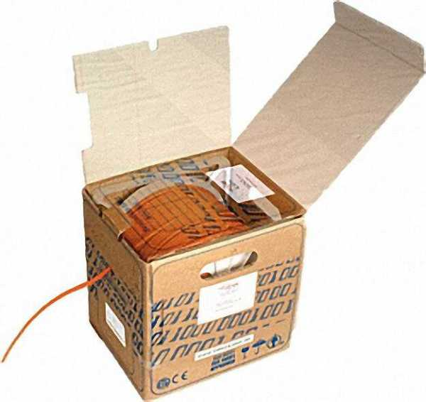 Datenleitung Duplex in Box a 100 Meter STO 2X4X2X AWG 23 PiMF FRNC OR