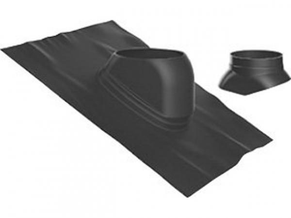 Buderus Universal-Dachziegel, Ø 125 mm, 25 °–45 °, schwarz, Regenkappe, 7738112621