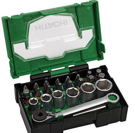 HITACHI Bit-Box 24-teilig, 25mm mit Ratsche