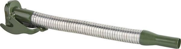Ausgussstutzen flexibel für Benzin, d=20mm, RAL 6003 grün