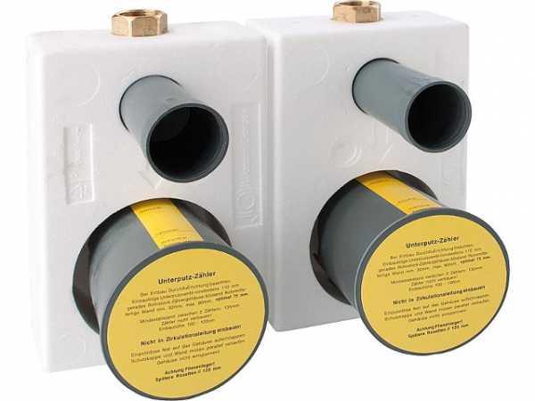 Wasser Geräte Montageblock TEC 3000/ 3/4'' Rotguß für Koax - Zähler