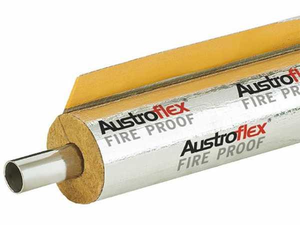 Brandschutzisolierung Fire Proof feuerbeständig, d=12mm,Dämmdicke 23mm,VPE=9m