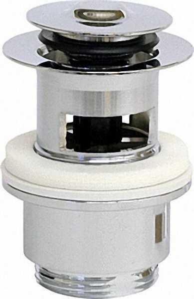 Schaftventil ''Klicker'' mit Überlauf und kl. Stopfen D 48mm x 1 1/4'' x 60mm