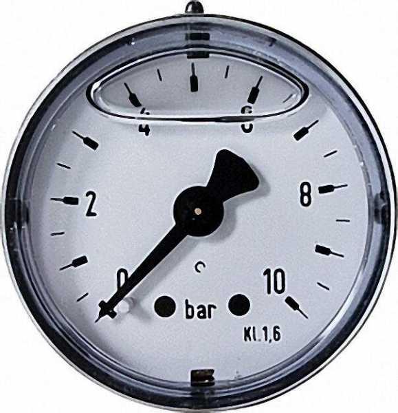 Rohrfeder-Glyzerinmanometer d = 40mm 0-16 bar