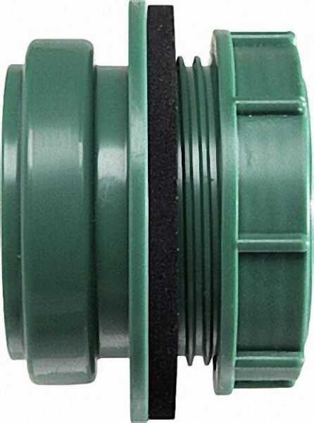 AIRFIT Anschraub-Muffe DN 50, grün, für Kunststoff-Reinigungs-Deckel