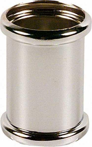 DoppelMuffe Messing verchromt 32 x 32mm, mit 2 O-Ringen