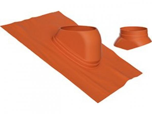 Buderus Universal-Dachziegel, Ø 125 mm, 25 °–45 °, rot, Regenkappe, 7738112622