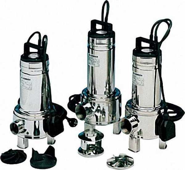 LOWARA Schmutzwasserpumpe DOMO 7/B GT mit Schwimmschalter 0,55kW