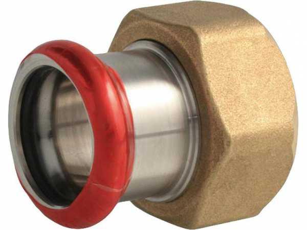 C-Stahl Pressfitting Anschlussverschraubung mit EPDM flachdichtend für Verschraubung G1 1/4-28