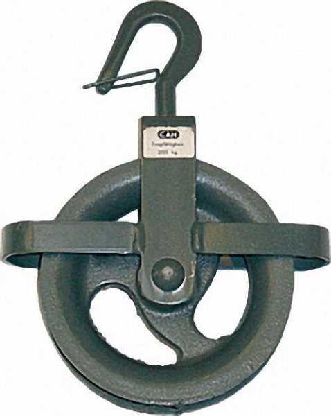 Bau-Aufzugrolle, d= 160mm Tragfähigkeit: 200 kg