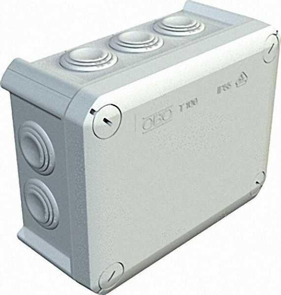Abzweigkasten Thermoplast 10 x M25, IP 66 Typ T 100, lichtgrau / 1 Stück