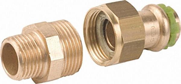 Rotguß Pressfitting Rohrverschraubung mit AG flach dichtend P 4331 G 12x3/8