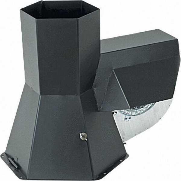 KW-Rauchsauger RS-180 ES aus Edelstahl für Abgasrohr 100-200mm dm