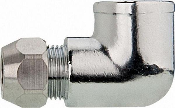 Winkel-Verschraubung 90° verchromt 3/8'' x 10mm