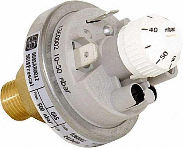360 Gasdruckwächter einstellbar 10-50 mbar, G 1/4'' Referenz-Nr.: 0.360.002