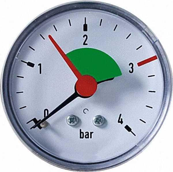 Ersatzmanometer für Membran- Sicherheitsventil 532 M 0-4 bar