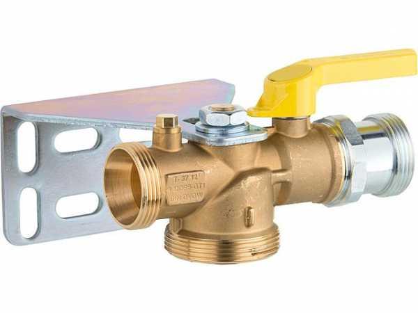 Gasabsperr-Kugelhahn Strömungswächter, 15-100 mbar, HTB 650°C 6,0m³/h. f. Einrohrzähler, Durchgangsform