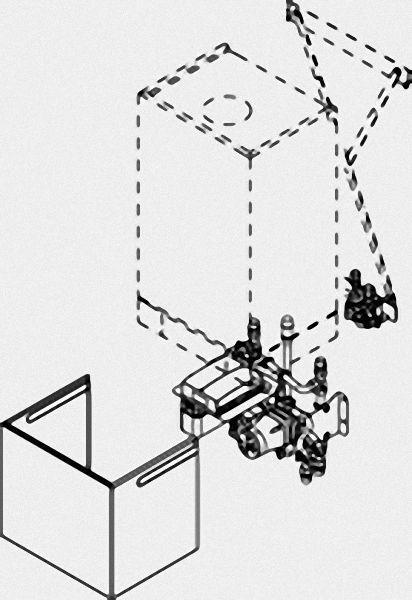 VIESSMANN 7438922 Unterbau-Kit mit Mischer für Gerätebreite 480 mm (Vitopend 200-W)