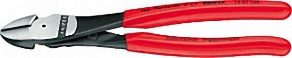 Kraft-Seitenschneider poliert Kunststoff überzogen Länge 180mm