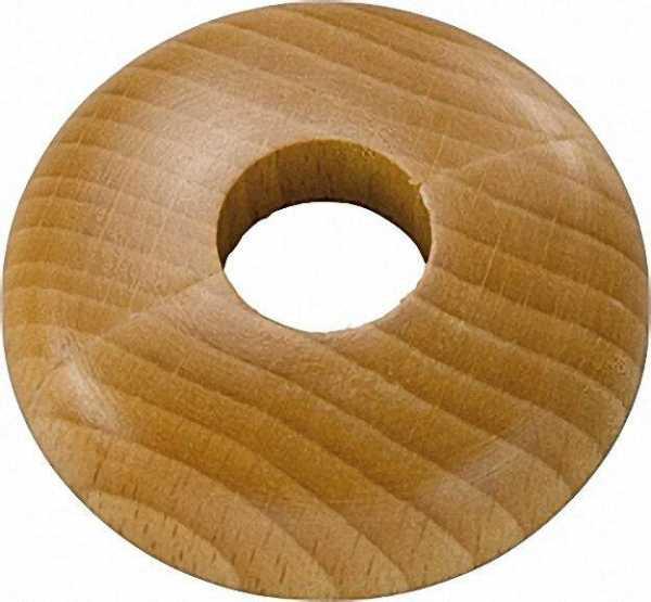 Holz-Einzelrosette Typ Schwarzwald Buche - 16mm